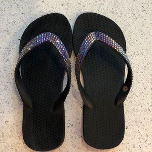 Swarovski Crystal flip flops